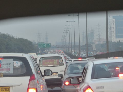 Delhi rush hour traffic, India